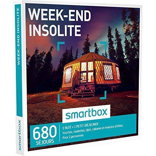 SMARTBOX – Coffret Cadeau – WEEK-END INSOLITE – 755 séjours : cabanes, yourtes, roulottes, tipis, châteaux, maisons d'hôtes: Une nuit avec…
