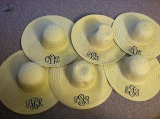 The Plaid Pineapple: Monogrammed Straw Hats How To---This will be a must!