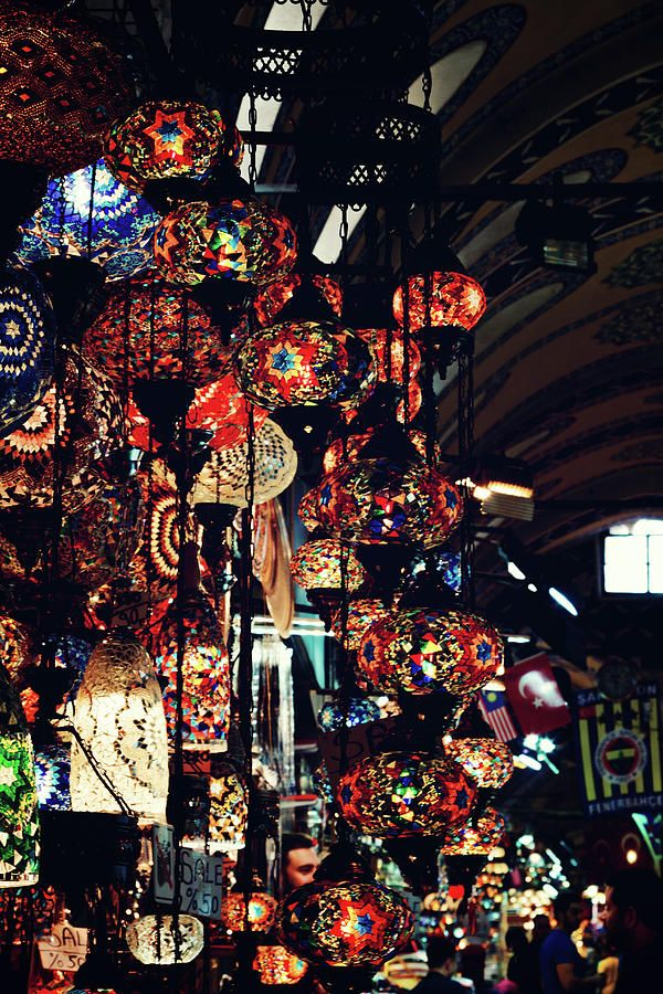 Istanbul Photograph - Istanbul, Grand Bazar - Oriental Lights by Svetlana Yelkovan #SvetlanaYelkovanFineArtPhotography  #ArtForHome #FineArtPrints #Istanbul #GrandBazaar #Travel #Bazaar #Oriental #Lights