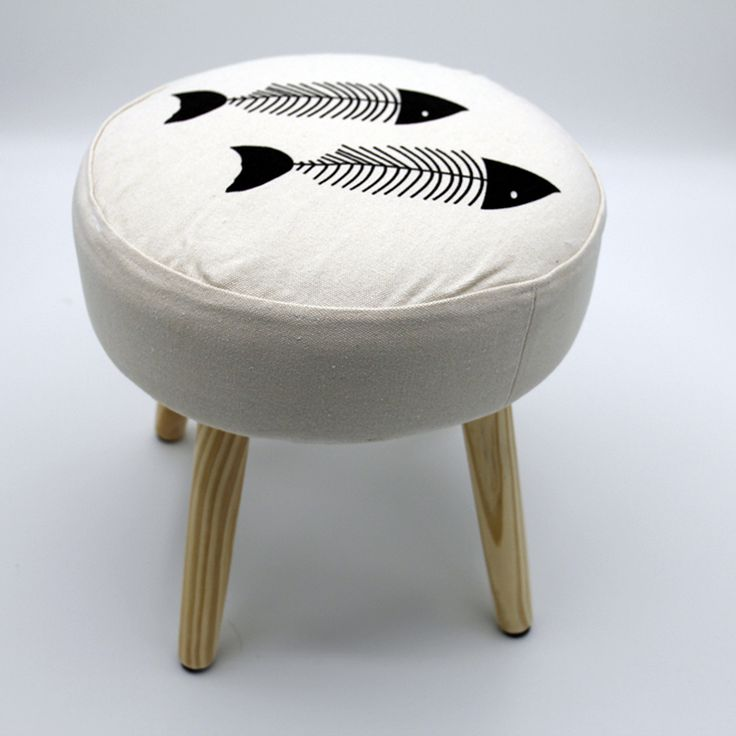 LANSKAYA Fish Simple Literary Creative Minimalist Modern Style Wooden Stool For Bar Dining Living Room Outdoor Balcony
