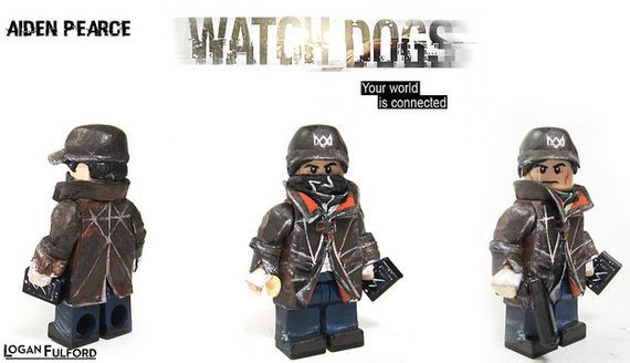 Aiden Pearce Watch Dogs Custom Minifigure