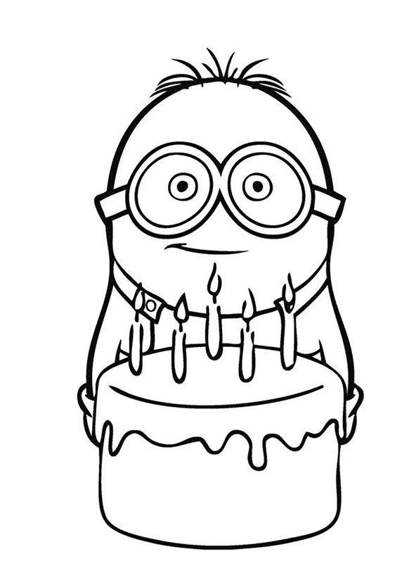 Malvorlage minion malbilder Birthday coloring pages