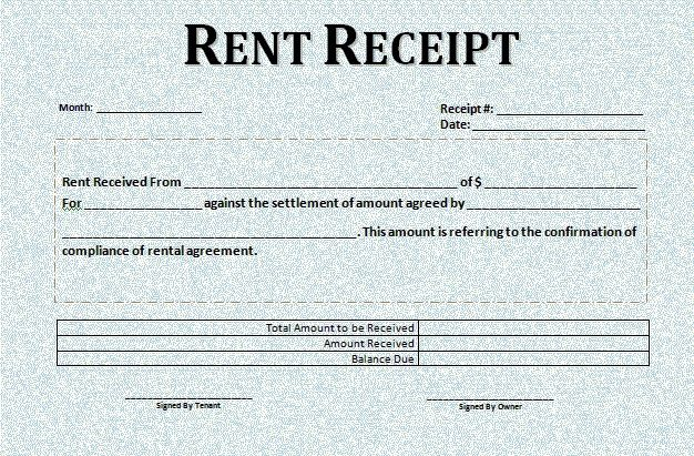 Room Rental Lease Agreement Receipt Template Invoice Template Word Words