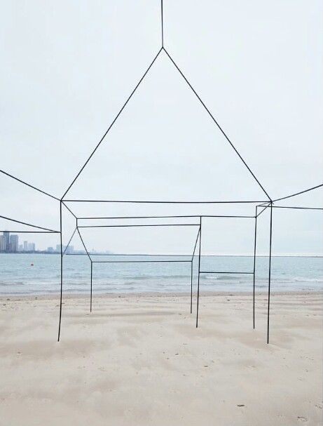 By Sarah FitzSimons. Deserted house on Lake Michigan