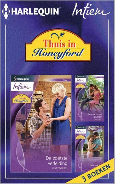 Thuis in Honeyford  Welkom in Honeyford welkom thuis! Honeyford is zon plek waar de deur altijd openstaat. Dit kleine plaatsje in het groen is een oase van rust voor iedereen die het nodig heeft en ben je er eenmaal thuis dan wil je nooit meer weg. (1) DE ZOETSTE VERLEIDING - 'Gezocht voor op de ranch: een eerlijke vrouw die van aanpakken weet. Moet een notentaart kunnen bakken. Claire Dobbs is witheet. Ze heeft de advertentie in de krant zien staan en ze is aan het juiste adres. Toch…