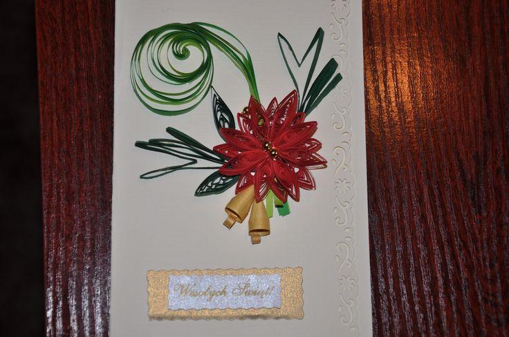 Boże Narodzenie - Christmas kartka1, quilling