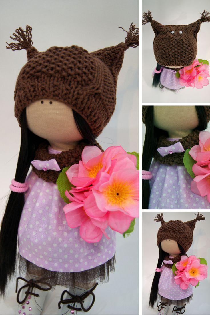 Tilda doll Nursery doll Fabric doll Cloth doll Winter doll Handmade doll Grey doll Interior doll Textile doll Decor doll Rag doll by Ksenia
