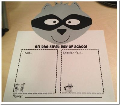 First day of school - compare feelings (guided for kindergarten)