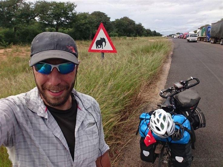 Fillerin, leoparların ve aslanların hüküm sürdüğü Botsvana'da bisikletle seyahat