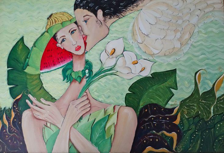 El beso retrospectiva del pintor David Alvarado Mora