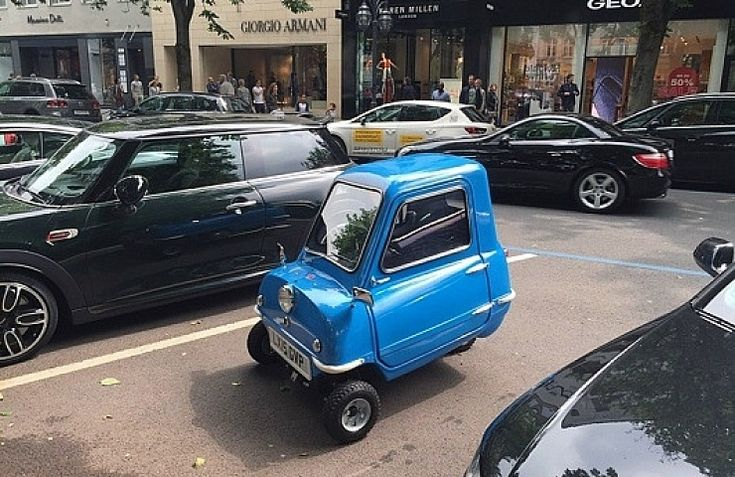 British-made Peel P50 microcar - limited-edition of 50 built in England in 2015.