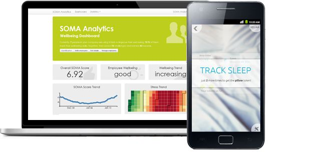 """RESILIENCE   SOMA Analytics is workplace-based """"mobile programs to increase employee emotional resilience."""