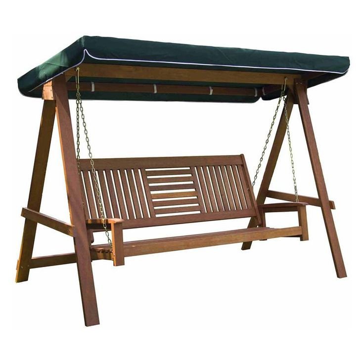 Sunjoy Wood 3 Seater Porch Swing With Canopy 110205017 400 x 300