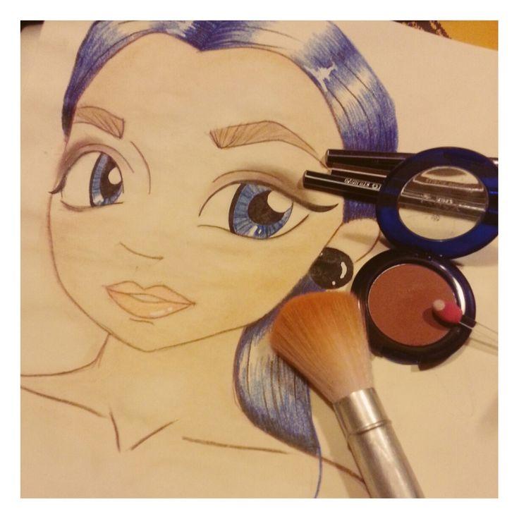 Ilustración maquillaje novia