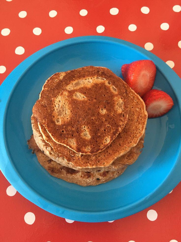 Vegan pancakes  (dairy, egg, nut and soya free: mummybakesdairyfree)