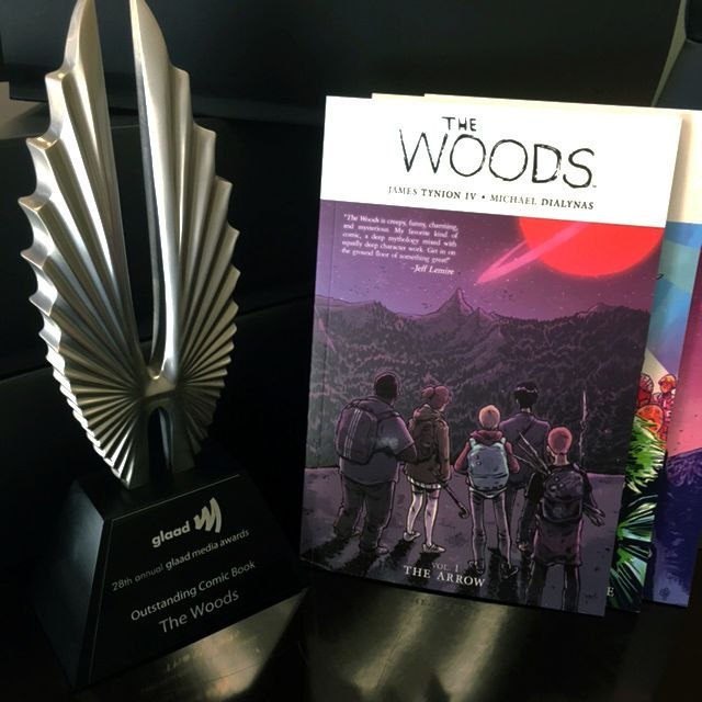 2017 GLAAD Media Award for Outstanding Comic Book Officially Presented to Series Writer, James Tynion IV BOOM! Studios and GLAAD honored writerJames Tynion IV and artist Michael Dialynas'ori…