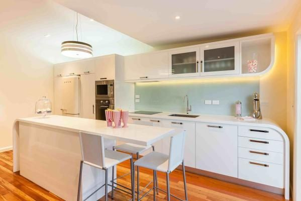 """""""MT EDEN: Renovating a period home requires research and sympathetic design. A country or contemporary kitchen would only have fought with the home's natural features, so [Mal] Corboy went with a complementary art deco design. """" From http://www.stuff.co.nz/life-style/home-property/10398472/10-amazing-Auckland-kitchens"""