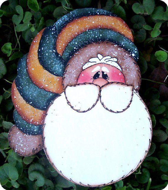 País Navidad Santa ornamento por CountryCharmers en Etsy