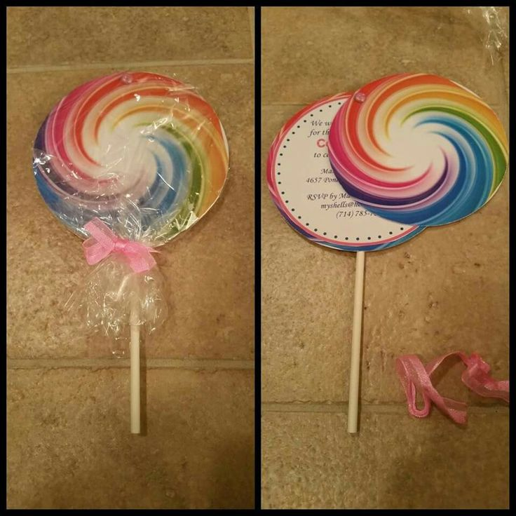 Candyland lollipop birthday party invitations. DM for details and ordering information.