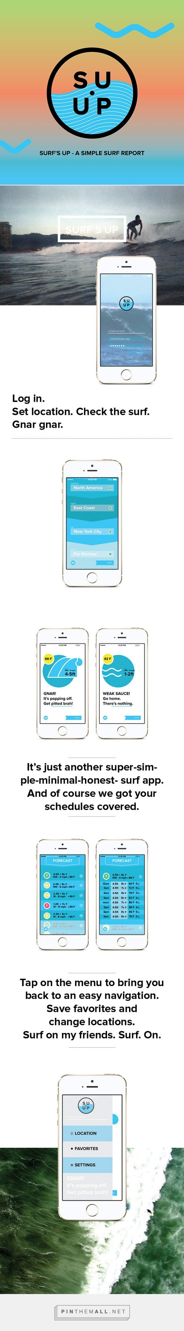 SU UP - A Simple Surf App on Behance... - a grouped images picture - Pin Them All