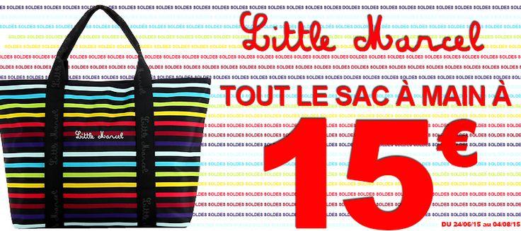Du 24 juin au 4 août, tous les sacs à mains de la marque LITTLE MARCEL sont à 15€ chez Bleu Cerise.