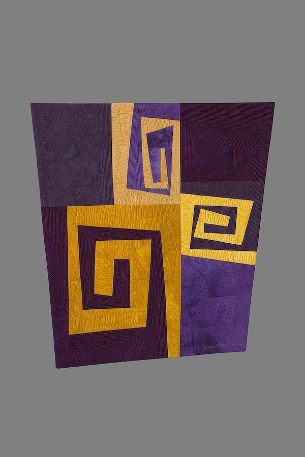 Voluta #1: Origins - SandraPalmerCiolino.com | Fiber Artist | Contemporary Quilting | Cincinnati, Ohio