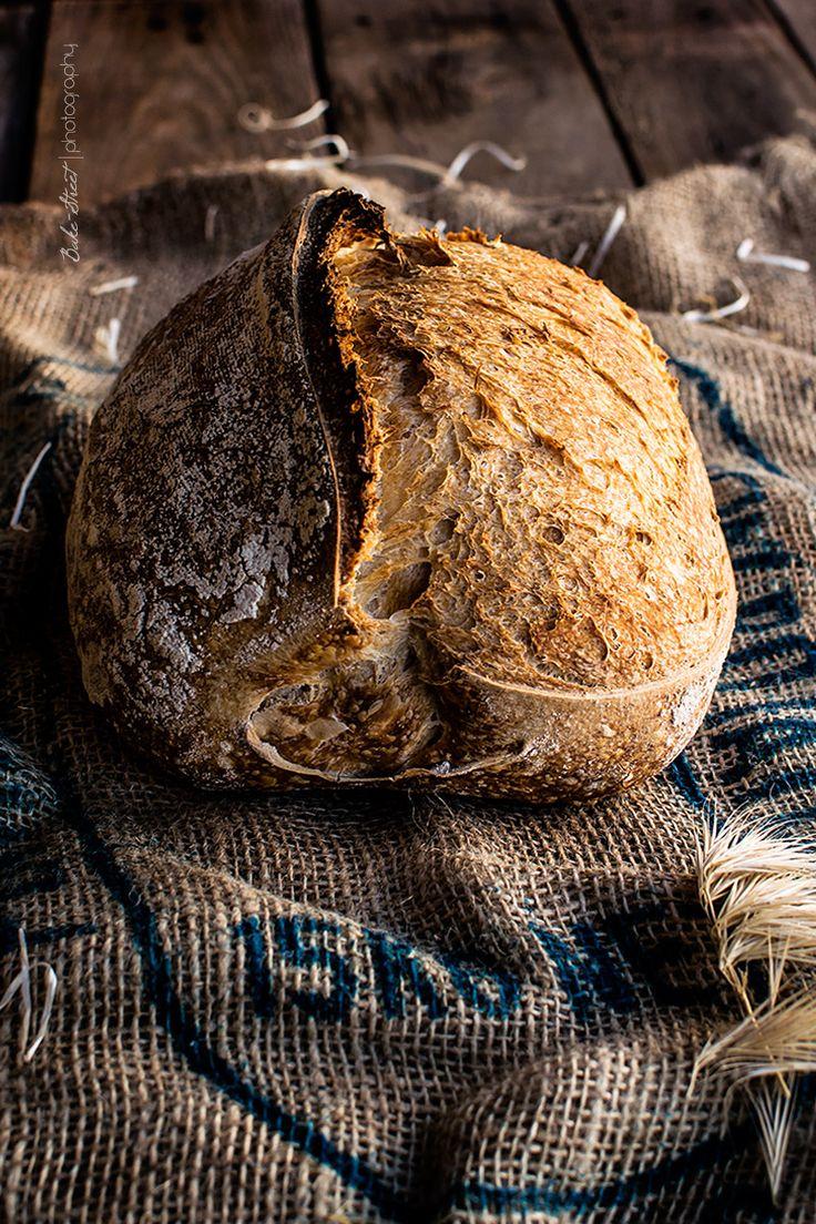 Pan con masa madre 150% - Bake-Street.com My Daily Bread, Sourdough Bread Starter, Spoon Bread, Fruit Bread, Bread Food, Bread Bags, Rustic Bread, Artisan Bread, Bread Rolls