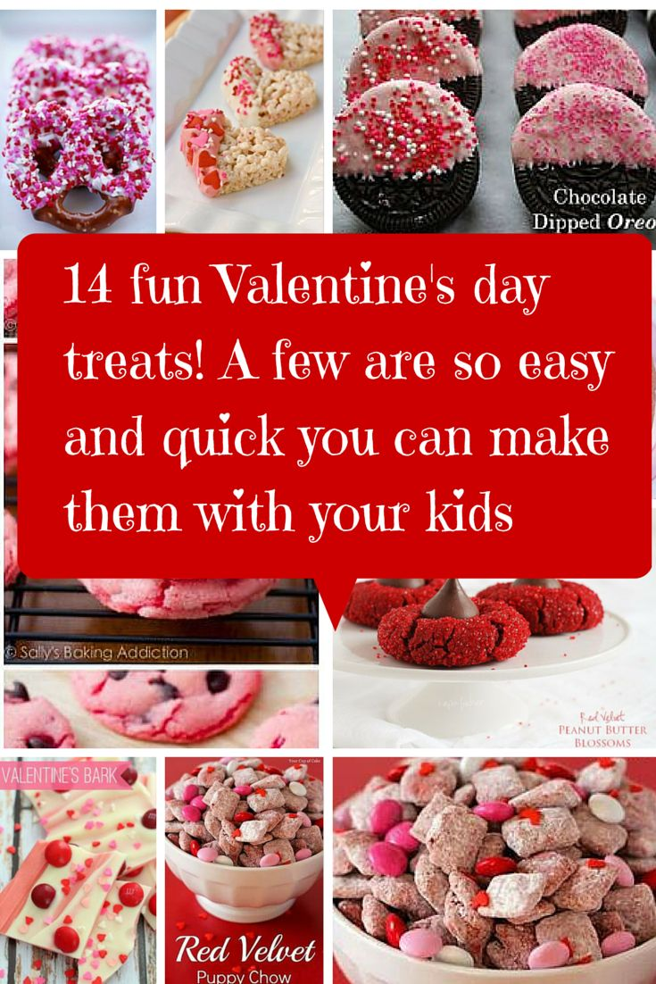 Valentine's day is a fun and child friendly holiday in my house. It's also a time for dessert. So here are 14 Valentine's Day recipes to try.
