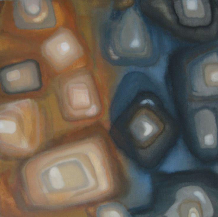 Earth-acrylics,60x60 cm