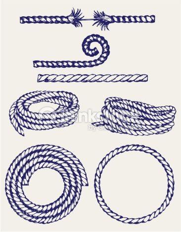 Nautical Rope Knots Vector Art 470752685
