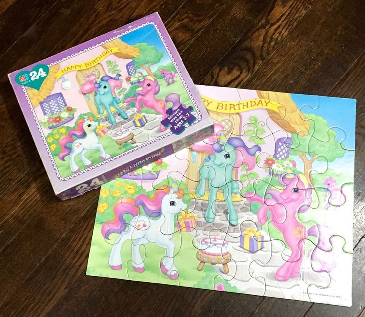❤︎ Vtg G2 MY LITTLE PONY - Birthday Puzzle - COMPLETE 1990s - Kawaii MLP Cute ❤︎ #Hasbro
