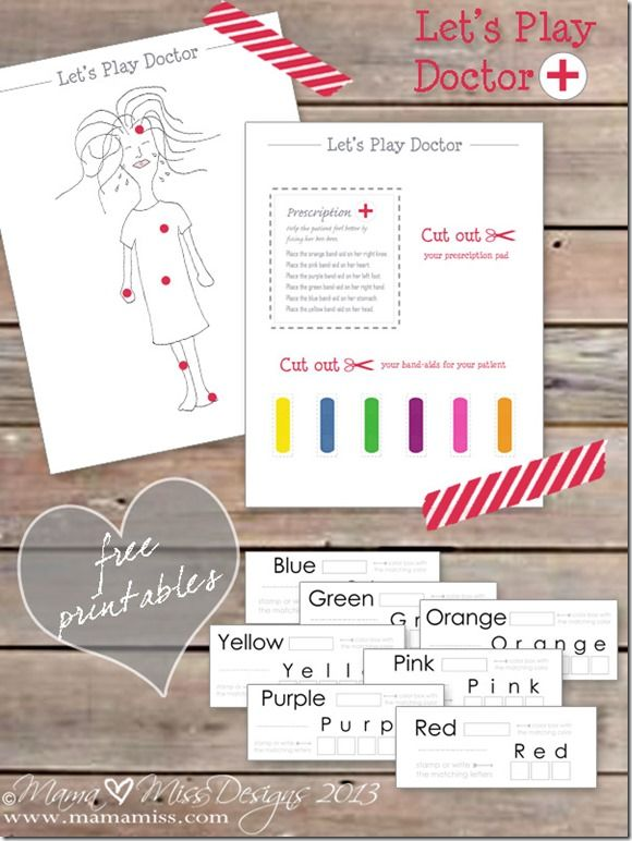 Pretend Play Doctor with Free Printables from Mama Miss