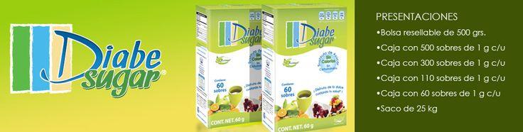 #Diabesugar  •Diabesugar® es el primer sustituto de azúcar especializado para personas diabéticas. •Diabesugar® es un endulzante de origen natural derivado del azúcar. •Es cuatro veces más dulce que el azúcar tradicional. •No contiene carbohidratos metabolizables y no incrementa los niveles de glucosa en sangre. •Avalado por la Asociación Mexicana de Nutrición y Diabétes (AMND A.C).