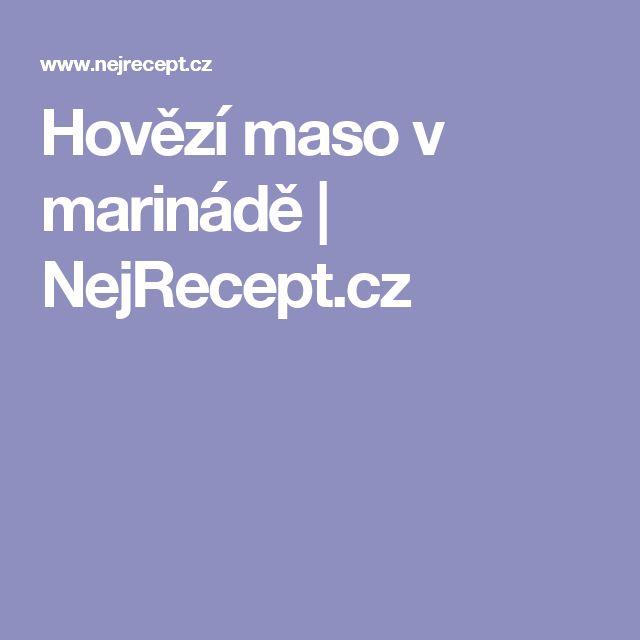 Hovězí maso v marinádě   NejRecept.cz