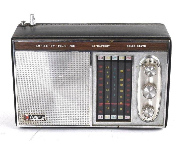 Craftsman 1969-P Portable Radio Vintage Handheld Garage AM ...