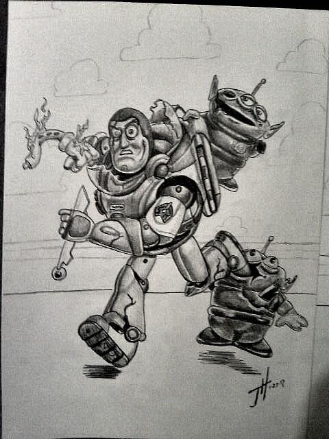buzz zombie drawing