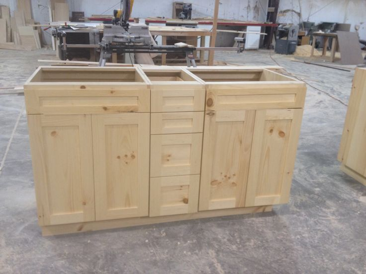 Knotty Pine Vanities Frameless With Natural Finish Turned