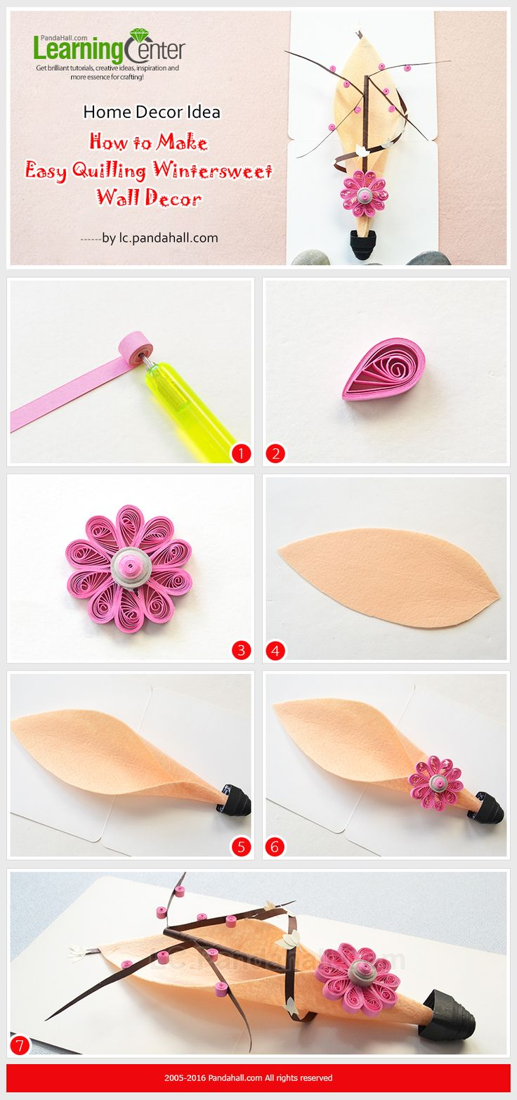 1335 best diy jewelry crafts 2 images on pinterest pearls home decor idea how to make easy quilling wintersweet wall decor from lc amipublicfo Image collections