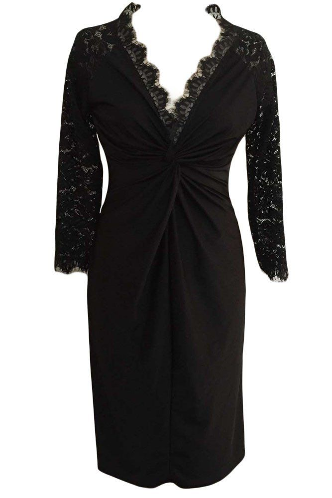 plus size dresses with sleeves parties Achat Grande Taille Robes Robe De Cocktail Avec Manches En Dentelle €16.16 modebuy.com