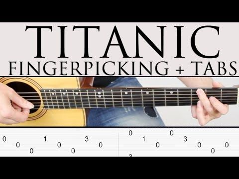 Como tocar Titanic en guitarra facil tutorial punteo Fingerpicking y TAB Fácil ! paso a paso! - YouTube
