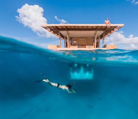 Underwater Hotel Room Manta Resort 1