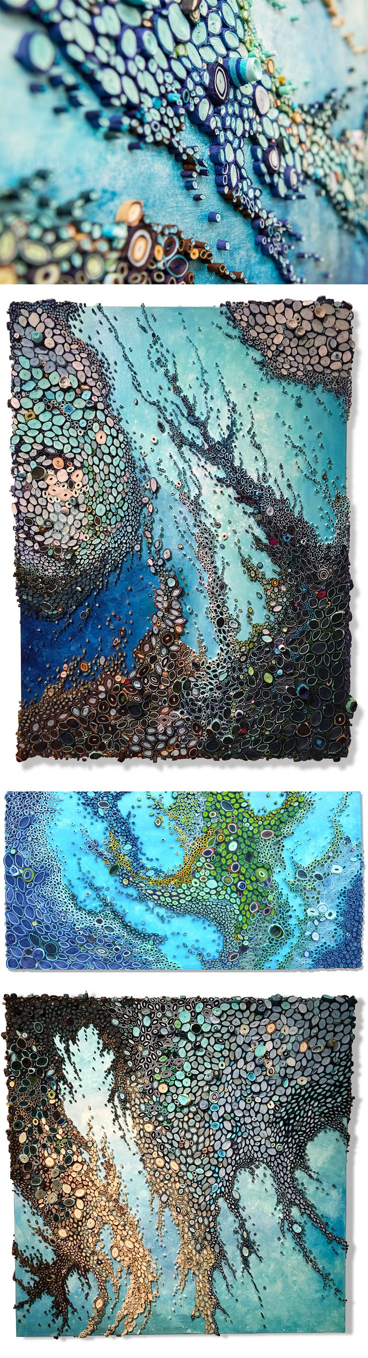 New Ocean Reefs Comprised of Rolled Paper by Amy Genser