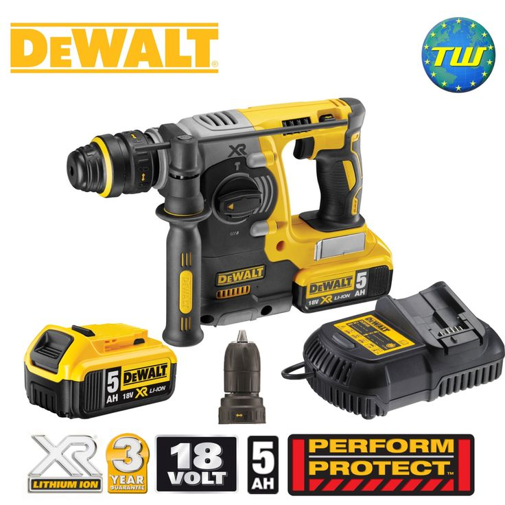 http://www.twwholesale.co.uk/product.php/section/10445/sn/DeWalt-DCH274P2-GB DeWalt DCH274P2 BRUSHLESS SDS+ Drill The 18V XRP BRUSHLESS SDS+ Drill from DeWalt has a rotation stop mode for light chiselling in plaster, tiles and render while an impact stop mode for rotary only drilling is suited for wood and metal. Fitted with a brushless motor, electronic clutch and DeWalt's Perform & Protect system this drill delivers consistent high torque and best-in-class vibration