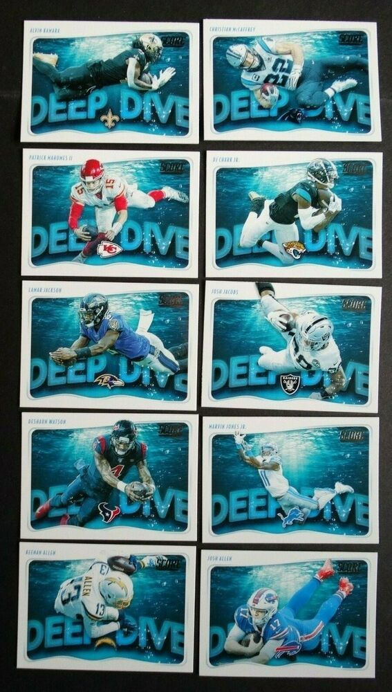 2020 Panini Score Deep Dive Football Cards Complete Your