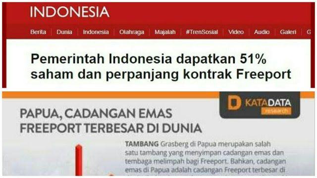 Praktisi Tambang: Ini Kenapa Saya Tak Pilih Jokowi! Kebodohan kok Diframing Keberhasilan  Republik.in Tulisan oleh Agus Santoso (Praktisi Pertambangan) dari halaman facebooknya. Inilah alasan saya gak pilih Jokowi Terbukti! Suatu kebodohan malah diframing sebagai suatu keberhasilan.. PT. Freeport Indonesia menyatakan siap melakukan divestasi sahamnya hingga 51% sesuai dengan keinginan pemerintah Indonesia. 1. Mengapa harus mengeluarkan dana ratusan triliun untuk 51% saham padahal cukup…