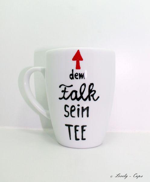 Tee Tasse Tee Geschenk persönliche Tasse mit Namen von Lovely-Cups   auf DaWanda.com