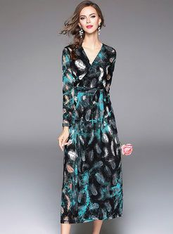 cec6cba1235 Vintage Floral Print Big Hem Maxi Dress With Camis