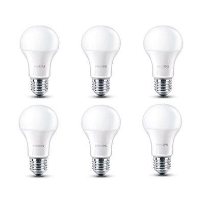 Chollo en Amazon España: Pack de 6 bombillas LED de Philips solo 14,96€ (un 55% de descuento sobre el precio de venta recomendado y precio mínimo histórico)