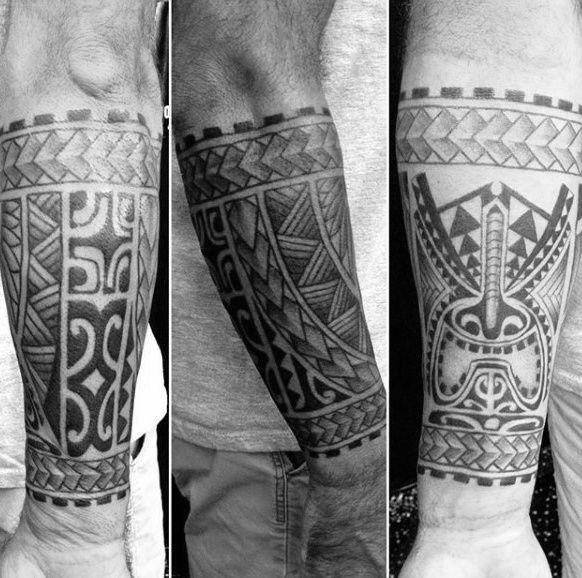 Creative Male Tribal Forearm Tattoo Design Ideas