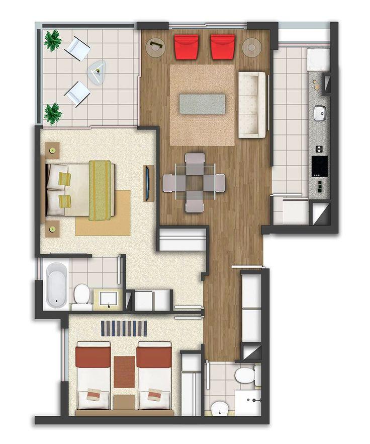 Edificio Magazine - Departamentos en Ñuñoa de 1, 2 y 3 dormitorios, de 41 a 82 m2